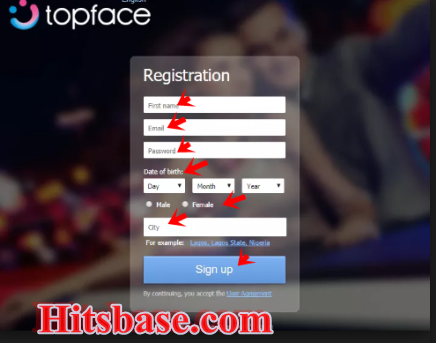 Sign up Topface Account | Topface App Download