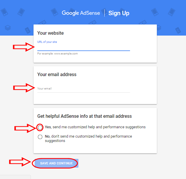 Adsense com Account Registration Page - Login & Download App