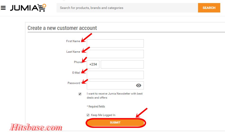 Create Your Jumia Account Now | Jumia Online Shopping