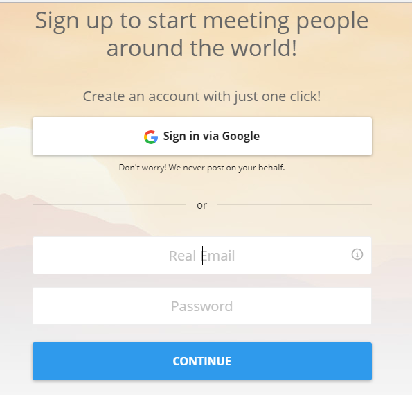 How to sign up for dating sites