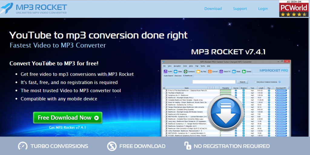 mp3 rocket official site download