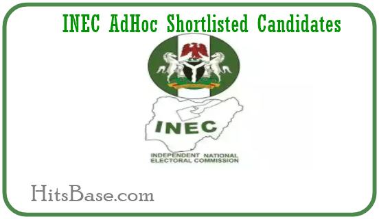 INEC AdHoc Shortlisted Candidates 2019