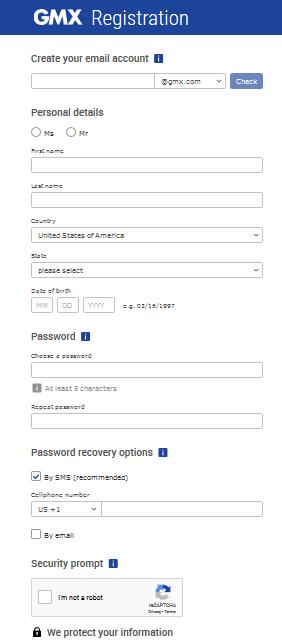 Account login gmx Free Email