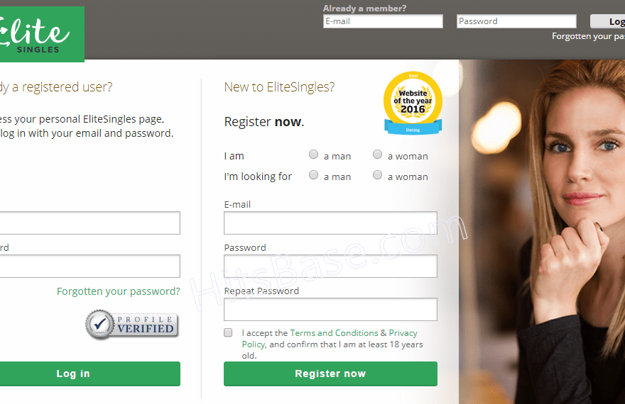 EliteSingles Registration Account